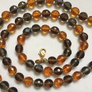 "Joan Rivers Faceted Glass Bead Necklace 34"" (p10)"